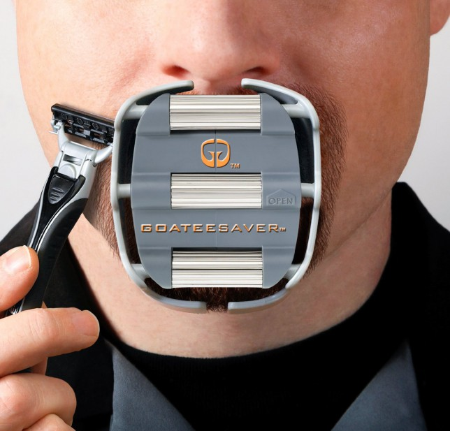 The GoateeSaver – a shaving template for the perfect goatee (of course)
