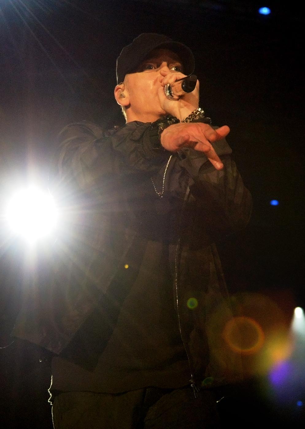 Eminem's latest track Vegas contains lyrics suggesting he wants to rape Iggy Azalea