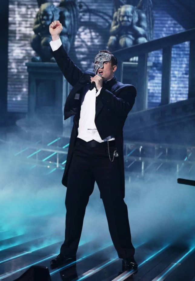 *** MANDATORY BYLINE TO READ: Syco / Thames / Corbis ***<BR/> X Factor contestant Stevi Ritchie performs on the live X Factor Halloween show in London. <P> Pictured: Stevi Ritchie <B>Ref: SPL880429  011114  </B><BR/> Picture by: Syco / Thames / Corbis<BR/> </P>