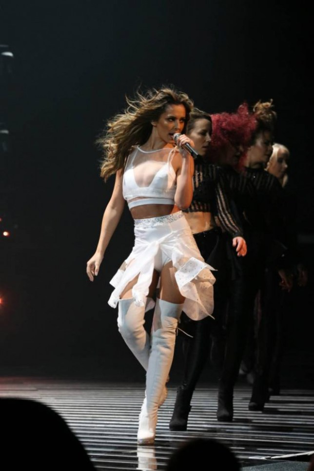*** MANDATORY BYLINE TO READ: Syco / Thames / Corbis ***<BR/> Cheryl Fernandez-Versini performs her new song 'I Don't Care' at the X Factor live show in London. <P> Pictured: Cheryl Fernandez-Versini <B>Ref: SPL880685  021114  </B><BR/> Picture by: Tom Dymond/Syco/Thames/Corbis <BR/> </P>