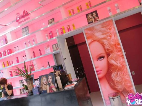 Were you aware there is a Barbie hair salon?