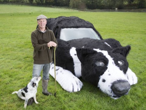 Farmer turns family car into a sheepdog named Floss