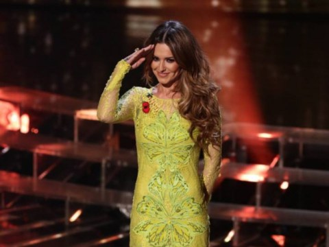 Panic over, sick Cheryl recovers and makes it onto the live X Factor show