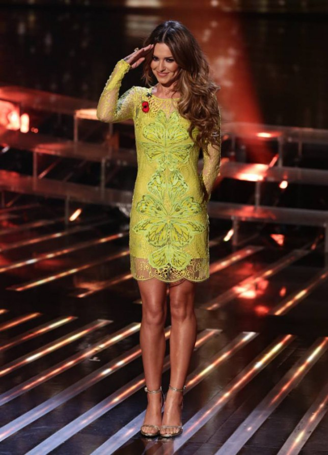 *** MANDATORY BYLINE TO READ: Syco / Thames / Corbis ***<BR/> The X Factor judges are seen at the live results show in London. <P> Pictured: Cheryl Fernandez-Versini <B>Ref: SPL886301  091114  </B><BR/> Picture by: Tom Dymond/Syco/Thames/Corbis<BR/> </P>