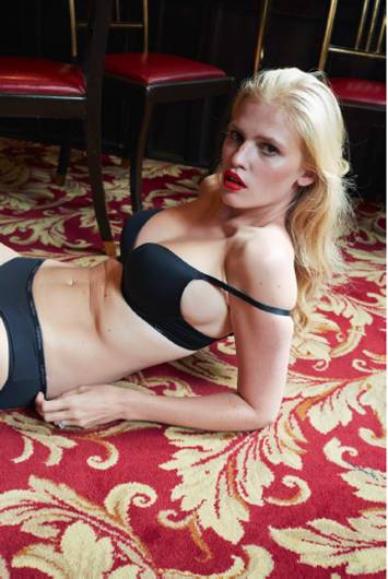 Lara Stone bares (nearly) all in untouched topless photoshoot