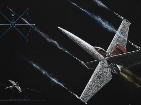 A long time ago… Star Wars sketches show early designs for X-wings and Star destroyers