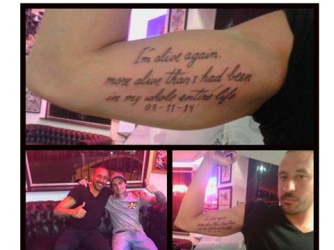 Jonas Gutierrez celebrates beating testicular cancer by getting awesome tattoo of Eminem lyrics