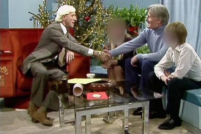 Jimmy Savile and Keith Harding on Jim'll Fix It (Picture: BBC Archive)
