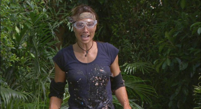 ***EMBARGO NOT TO BE USED BEFORE 21:00, 23 Nov 2014 - EDITORIAL USE ONLY - NO MERCHANDISING***  Mandatory Credit: Photo by ITV/REX (4267274cd)  Melanie Sykes - Bushtucker Trial - Hell's Kitchen  'I'm A Celebrity...Get Me Out Of Here!' TV Programme, Australia - 23 Nov 2014