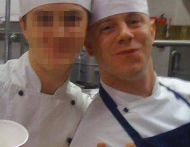 pic of buckingham palace chef Adam Steele (R) who headbutted a colleaugue on drunken night out.
