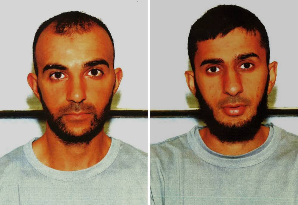 """A combination of handout pictures received from the Metropolitan Police Service (MPS) on November 26, 2014 shows the custody photographs of British men Mohommod Nawaz (L) and Hamza Nawaz (R). Two British brothers who travelled to Syria with the intention of attending a militant training camp were jailed on November 26, 2014, becoming the first to be sentenced for such offences in Britain. Mohommod Nawaz, 30, was handed a four-and-a-half year prison term and his younger brother Hamza Nawaz, 23, was given three years at London's central criminal court. RESTRICTED TO EDITORIAL USE - MANDATORY CREDIT """" AFP PHOTO / MPS """" - NO MARKETING NO ADVERTISING CAMPAIGNS - DISTRIBUTED AS A SERVICE TO CLIENTS-/AFP/Getty Images"""