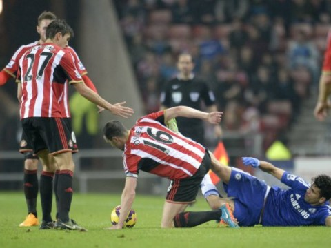 Chelsea striker Diego Costa lucky to escape red card after kicking out at Sunderland's John O'Shea