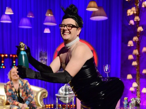 Break the internet: It's bottoms up for Alan Carr-dashian