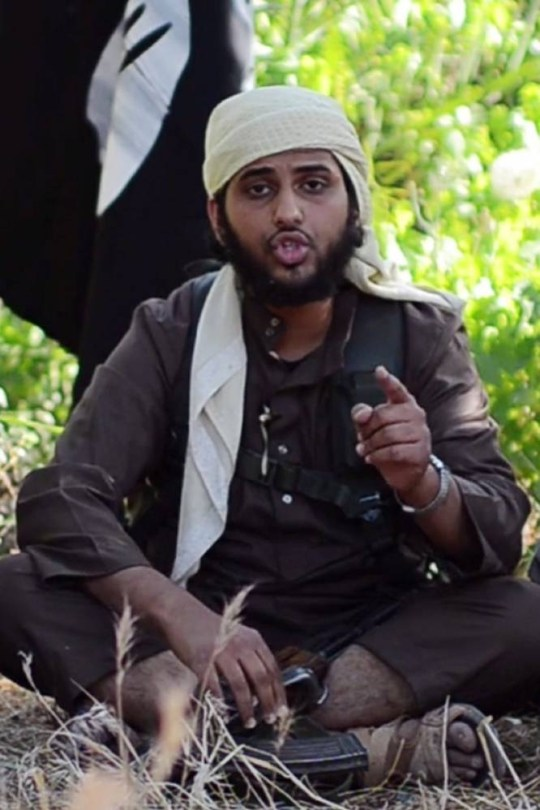 """Abu Muthanna al-Yemeni, believed to be Nasser Muthana, a 20-year-old man from Cardiff, Wales, speaking in an online video titled """"There is no life without Jihad"""" from an undisclosed location.    Muthana, who left to fight in Syria was identified by his father, Ahmed Muthana after he appeared in the online video aimed at recruiting jihadists His father slammed those who had drawn his son into the conflict, saying they only """"send other people's children"""" into battle. === RESTRICTED TO EDITORIAL USE - MANDATORY CREDIT """"AFP PHOTO / HO / AL HAYAT MEDIA CENTRE """" - NO MARKETING NO ADVERTISING CAMPAIGNS - DISTRIBUTED AS A SERVICE TO CLIENTS FROM ALTERNATIVE SOURCES, AFP IS NOT RESPONSIBLE FOR ANY DIGITAL ALTERATIONS TO THE PICTURE'S EDITORIAL CONTENT, DATE AND LOCATION WHICH CANNOT BE INDEPENDENTLY VERIFIED ===AL HAYAT/AFP/Getty Images An image grab uploaded on June 19, 2014 by Al-Hayat Media Centre shows"""