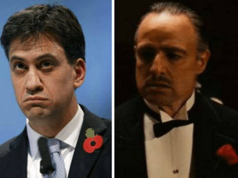 Ed Miliband swaps Wallace And Gromit grin for The Godfather grimace