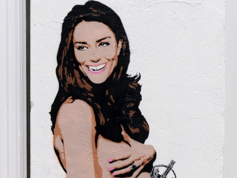 Kate Middleton gets a graffiti makeover (oh, and she's naked)
