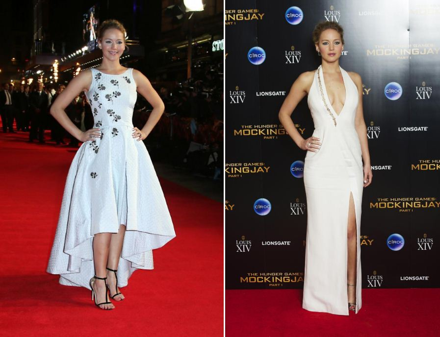 Jennifer Lawrence wows in TWO white dresses at The Hunger Games premiere (and her co-stars are pretty glam too)