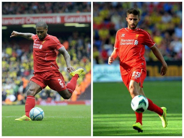 Glen Johnson (left) and Fabio Borini (right) are being tracked by Inter Milan (Pictures: Getty)
