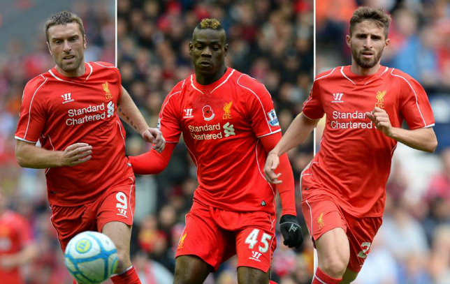 Liverpool strikers Mario Balotelli, Fabio Borini and Rickie Lambert have gone 1000 minutes without scoring