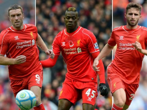 Liverpool strikers Mario Balotelli, Fabio Borini and Rickie Lambert have gone 1000 minutes without scoring