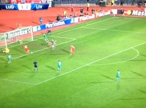 Rickie Lambert and Jordan Henderson combine to do their best Mario Balotelli impression with awful miss during Liverpool v Ludogorets