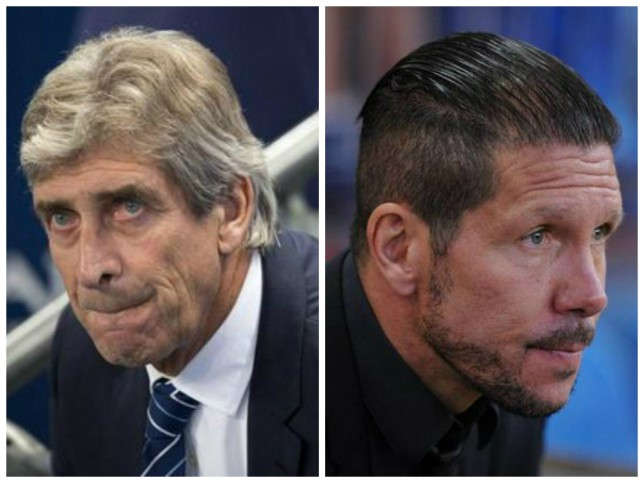 Manuel Pellegrini (left) could be replaced with Diego Simeone (right) (Pictures: AFP/Getty)