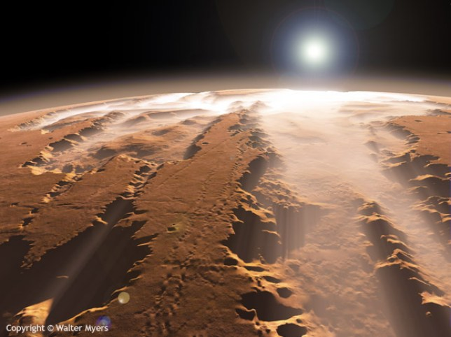 Was life on Mars wiped out by a nuclear attack? (Picture: ESA)