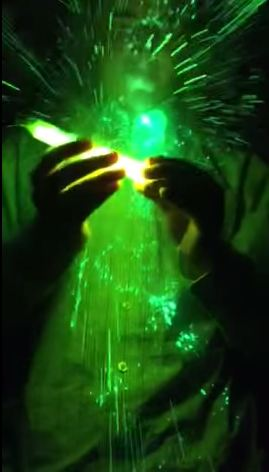 The glow stick explodes in Jack's face (Picture: YouTube)