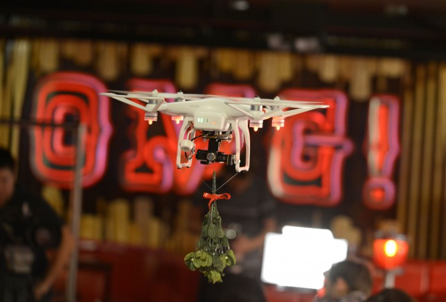 Mistletoe Drone at TGI Fridays.