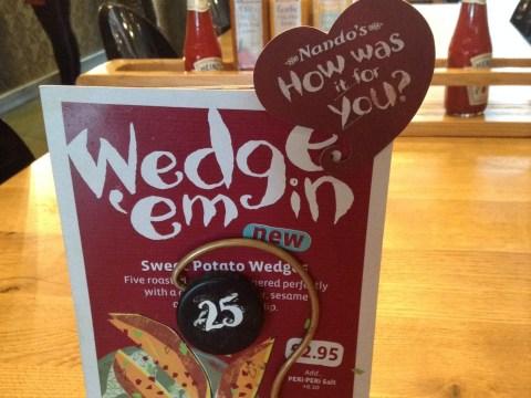 *Nandos news klaxon* guys, they're trialing sweet potato wedges in 10 UK restaurants