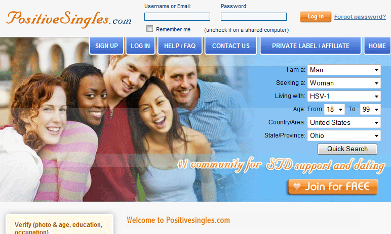 The dating site was found to have shared information with other sites (Picture: PositiveSingles)