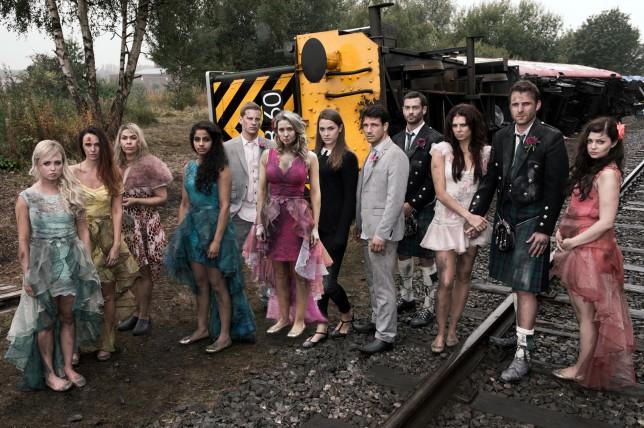 Hollyoaks train crash