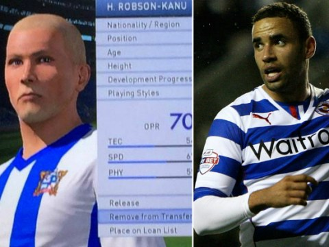 This face of Reading star Hal Robson-Kanu in PES 2015 shows exactly why FIFA is still king