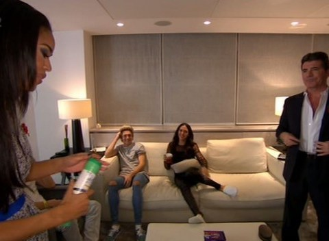 The X Factor 2014 results show: Simon Cowell gives Sarah-Jane Crawford a very random dressing room tour
