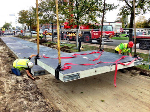First solar powered road in the world is opened in Holland (but it's actually a bike path)