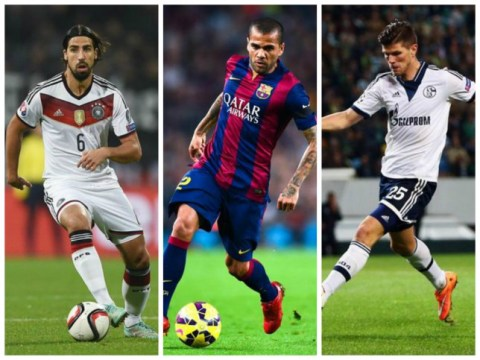 Sami Khedira, Dani Alves and Klaas-Jan Huntelaar among players available to sign a free pre-contract transfer agreement in January