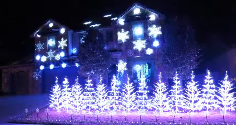 This 'Frozen' Christmas lights display will make you smile