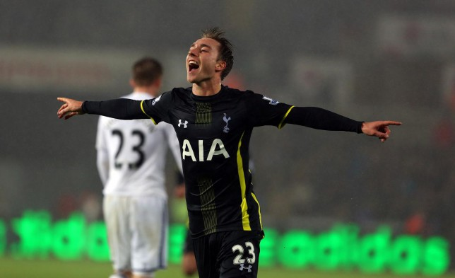 Christian Eriksen bails out Tottenham Hotspur with another match-winning late goal against Swansea