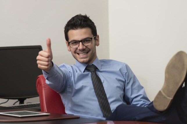 Happy Smiling Cheerful Business Man With Thumbs Up Gesture Ibrakovic/Ibrakovic