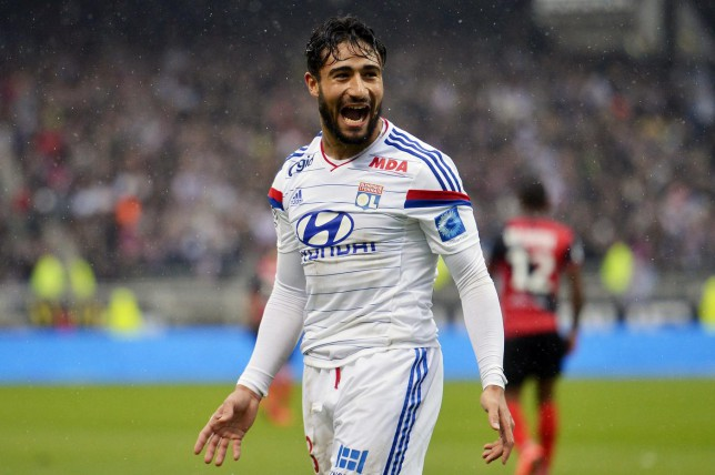 Lyon's French midfielder Nabil Fekir is being tracked by Arsenal