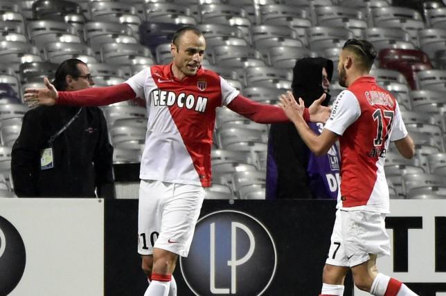 Dimitar Berbatov scores wonder goal in Monaco's 2-0 win over Toulouse