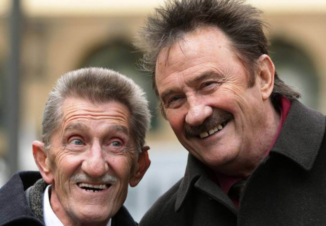 The Chuckle Brothers, Barry (left) and Paul Elliott, arrive at Southwark Crown Court in London, where they wil appear as witnesses in the trial of Former DJ Dave Lee Travis who is accused of 13 counts of indecent assault dating back to between 1976 and 2003, and one count of sexual assault in 2008. PRESS ASSOCIATION Photo. Picture date: Monday February 3, 2014. See PA story COURTS Travis. Photo credit should read: Yui Mok/PA Wire