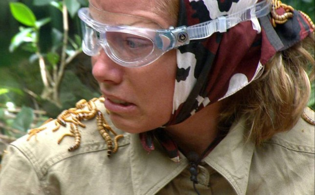 ***EMBARGO NOT TO BE USED BEFORE 21:00, 05 DEC 2014 - EDITORIAL USE ONLY - NO MERCHANDISING***  Mandatory Credit: Photo by REX (4275548df)  Bushtucker Trial 'Critter Conveyor' - Kendra Wilkinson  'I'm A Celebrity...Get Me Out Of Here!' TV Programme, Australia - 05 Dec 2014