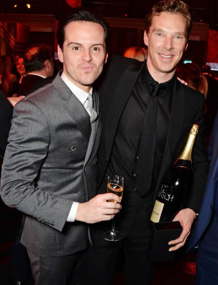 Awwwww, Benedict Cumberbatch and Andrew Scott were BFFs at the British Independent Film Awards