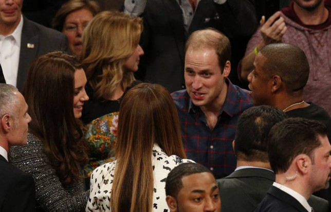The Duke and Duchess of Cambridge meet Jaz-Z and Beyonce Knowles