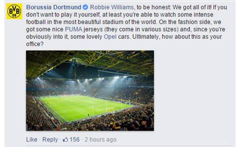 Borussia Dortmund certainly have a sense of humour
