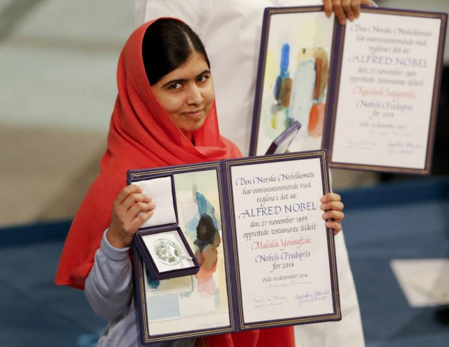 Malala Yousafzai becomes the youngest person ever to accept a Nobel Peace Prize