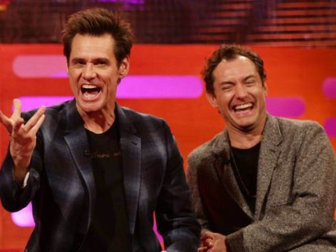Jim Carrey and Tamsin Greig had a fake orgasm face–off on The Graham Norton Show