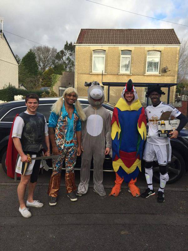 Wales rugby star Liam Williams sorry for 'blacking up' as Swansea striker Wilfried Bony