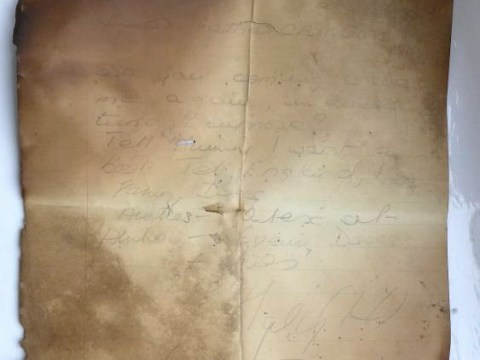 100-year-old letter to Santa discovered in a chimney